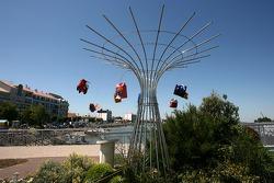 Visite de la Vendée: une sculpture à Saint-Gilles-Croix-de-Vie