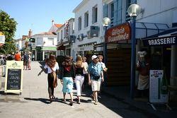 Visit of Vendée: a street in Saint-Gilles-Croix-de-Vie
