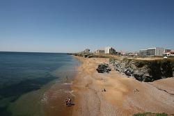 Visite de la Vendée: une plage à Saint-Gilles-Croix-de-Vie