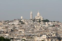 A view from atop the Arc de Triomphe: Montmartre