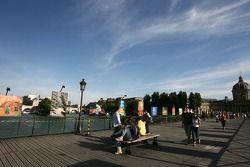 Fin d'après-midi sur le Pont des Arts