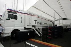 BMW Sauber F1 Team transporters