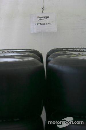 ART Grand Prix tyres