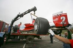 Lewis Hamilton car is recovered