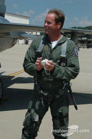 Tony Raines était ravi de son vol avec la garde nationale de l'Indiana Air
