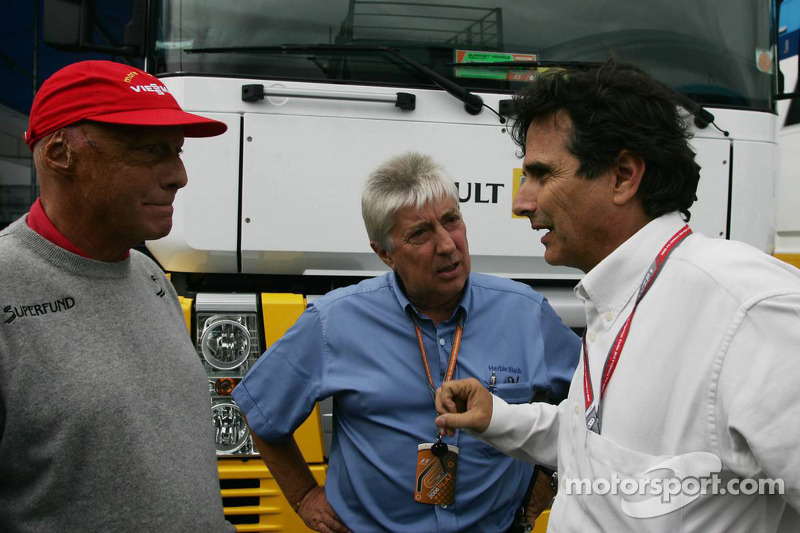 Niki Lauda, Herbie Blash and Nelson Piquet