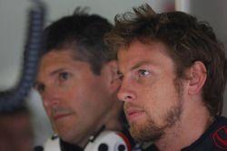 Jenson Button y Nick Fry