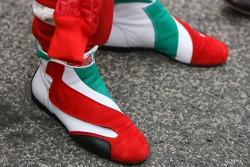 Jarno Trulli racing shoes