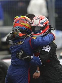 Timo Glock deuxième, Giorgio Pantano troisième