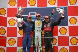 Podium: race winner Nelson A. Piquet