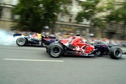 Red Bull Show Run Budapest: Robert Doornbos y Neel Jani