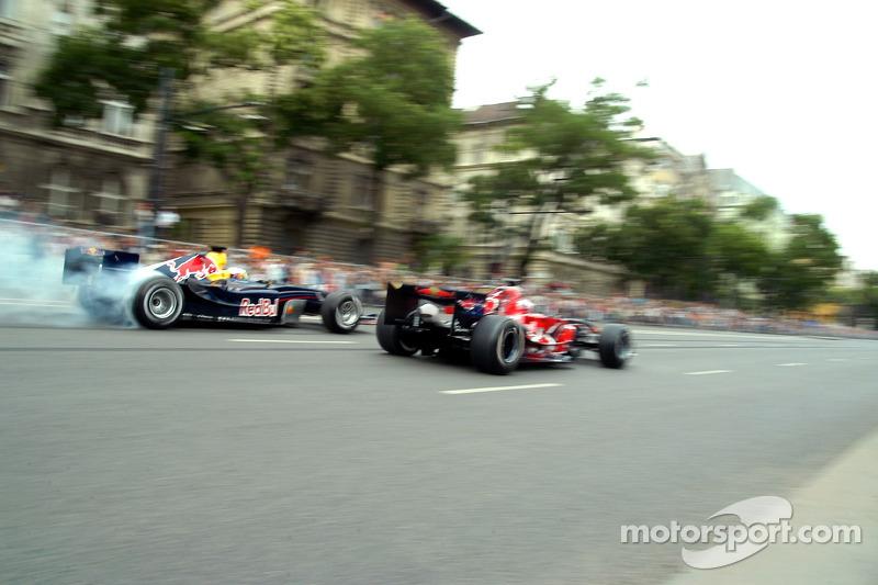 Red Bull Show Run Budapest: Robert Doornbos y Vitantonio Liuzzi