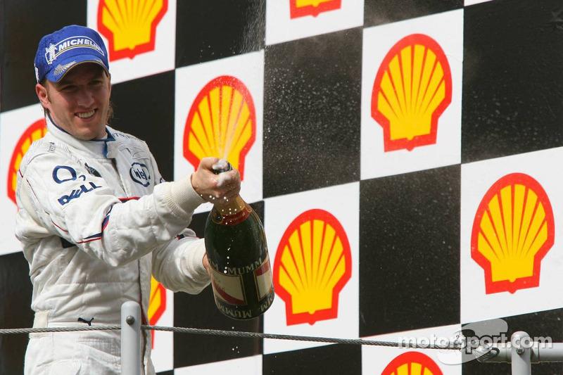 Podio: champagne para Nick Heidfeld
