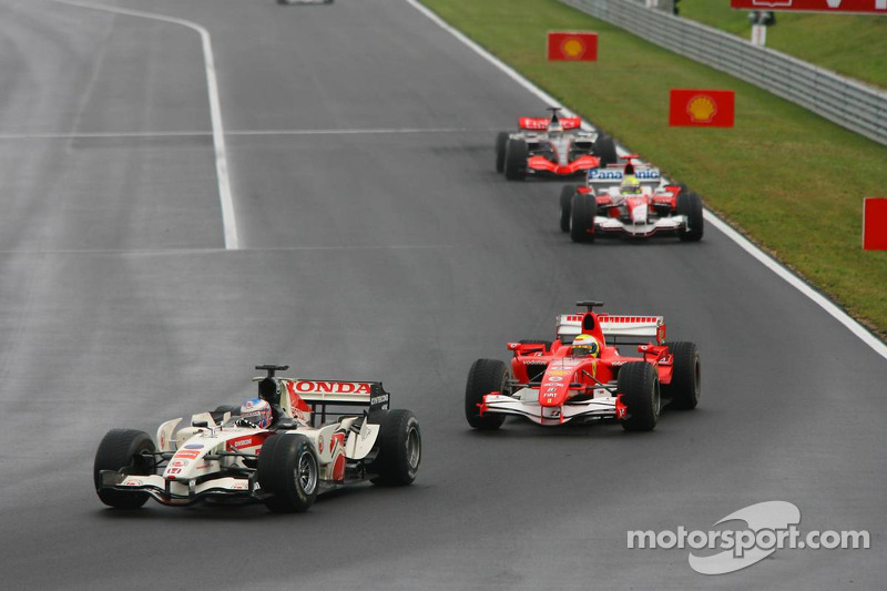 Jenson Button and Felipe Massa