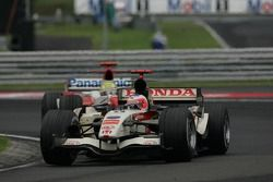 Rubens Barrichello leads Ralf Schumacher