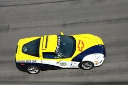 La Chevrolet Corvette Z06 durant le tour de chauffe