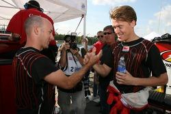 Pole winners Jon Fogarty and Alex Gurney celebrate