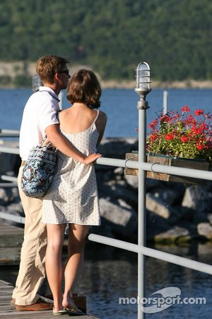 A young couple enjoy the late afternoon sun on Seneca Lake