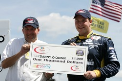 Danny O'Quinn receives a check