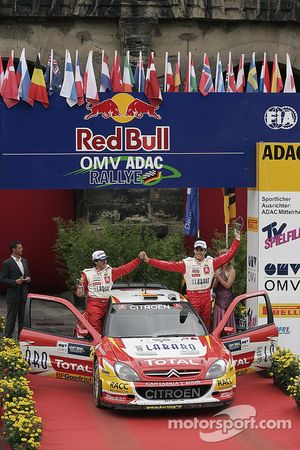 Podium : en seconde place Daniel Sordo et Marc Marti