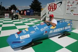 Geoff Bodine presents his bobsled