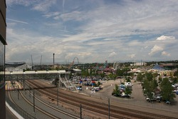 Six Flags is off the back straight