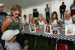 A young fan meets the Playboy Playmates