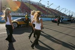 The Playboy Playmates arrive on the starting grid