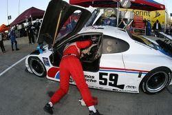 Pitstop for #59 Brumos Racing Porsche Fabcar: Hurley Haywood, JC France