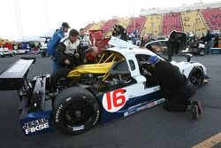 #16 Howard - Boss Motorsports Pontiac Crawford: Chris Dyson, Rob Dyson in trouble behind the pit area