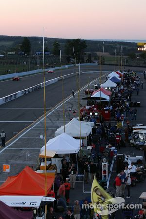 A view of the pitlane