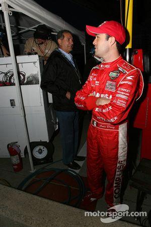 Luis Diaz watches the last lap