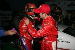 Podium: race winners Scott Pruett and Luis Diaz celebrate