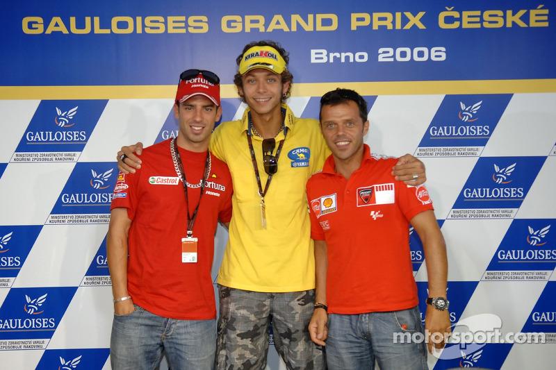Conferencia de prensa Marco Melandri, Valentino Rossi y Loris Capirossi