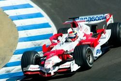 Ricardo Zonta in the Toyota TF106 F1 car at Laguna Seca