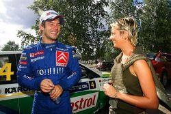 Sébastien Loeb with his wife