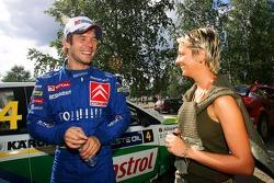 Себастьен Лёб со своей женой