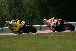 Valentino Rossi, Yamaha; Dani Pedrosa, Repsol Honda Team