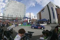 Podium: Sébastien Loeb and Daniel Elena