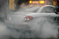official F1 Güvenlik Aracı doing a burn out