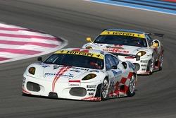 #56 JMB Racing Ferrari 430 GT2: Antoine Gosse, Peter Kutemann
