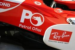Petrol Ofisi on the Honda Racing F1