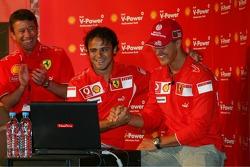 Shell press conference: Michael Schumacher and Felipe Massa