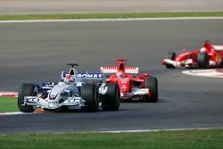 Robert Kubica and Michael Schumacher