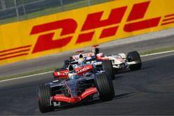 Pedro de la Rosa and Mark Webber