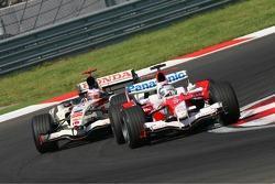 Jarno Trulli and Rubens Barrichello