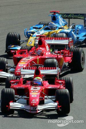 Départ : Felipe Massa devance Michael Schumacher et Fernando Alonso