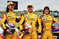 James Thompson, Robert Huff, Mikhail Kozlovskiy, Lada Sport Rosneft Lada Vesta WTCC