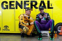 Matt Kenseth, Joe Gibbs Racing Toyota and Denny Hamlin, Joe Gibbs Racing Toyota