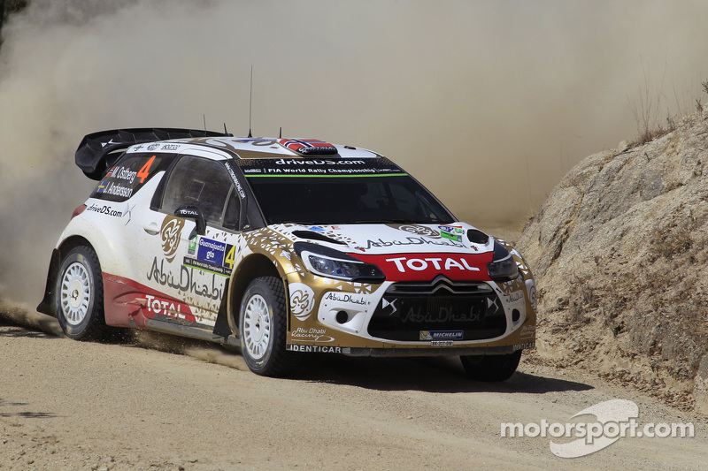 Mads Ostberg and Jonas Andersson, Citroën DS3 WRC, Citroën World Rally Team